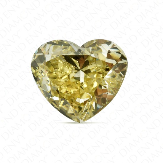 1.03 Carat Heart Shape Fancy Brownish Greenish Yellow Diamond