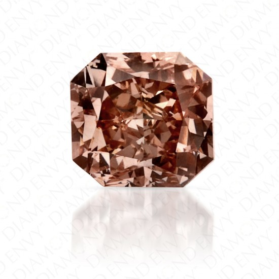 0.61 Carat VS1 Radiant Fancy Pink-Brown Diamond