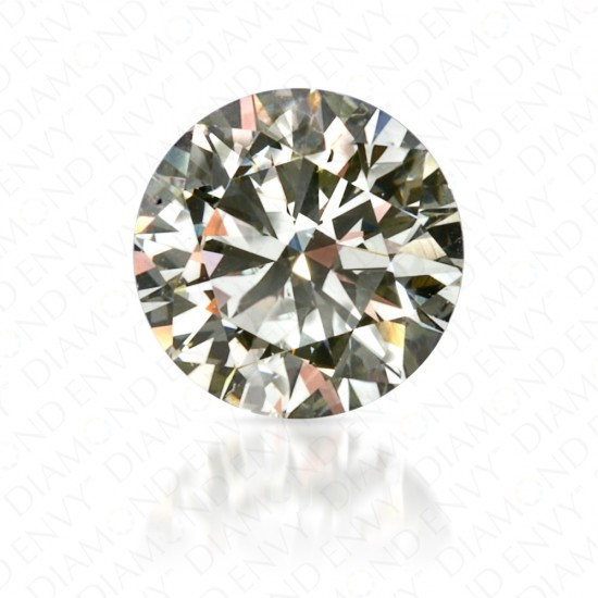 0.40 Carat Round Brilliant Natural Very Light Yellow-Green Diamond