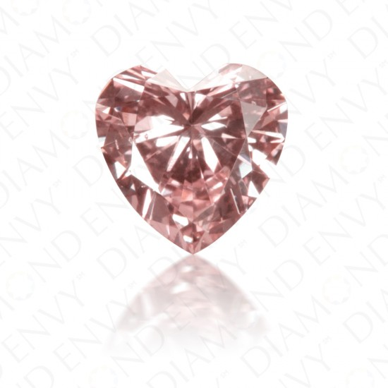 0.19 Carat Heart Shape Natural Fancy Argyle Pink Diamond