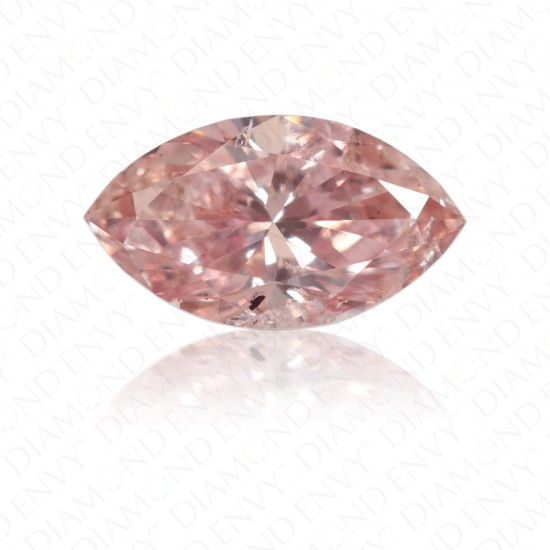 0.34 Carat Marquise Cut Fancy Orangy Pink Diamond