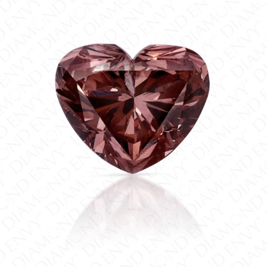 0.37 Carat Heart Shape Natural Fancy Deep Brownish Orangy Pink Argyle Diamond