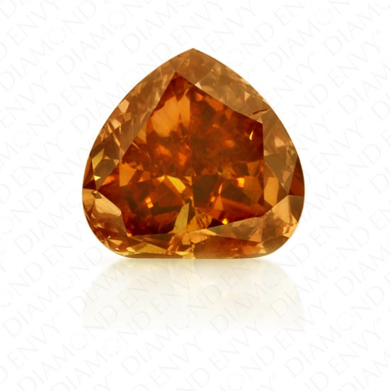 0.74 Carat Heart Shape Fancy Deep Brownish Yellowish Orange Diamond