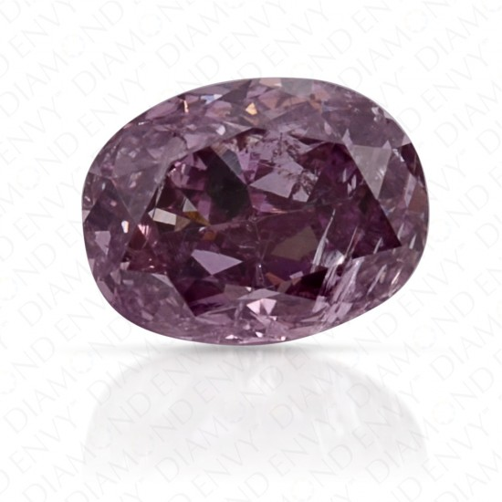 0.28 Carat Oval Fancy Pink Purple Diamond