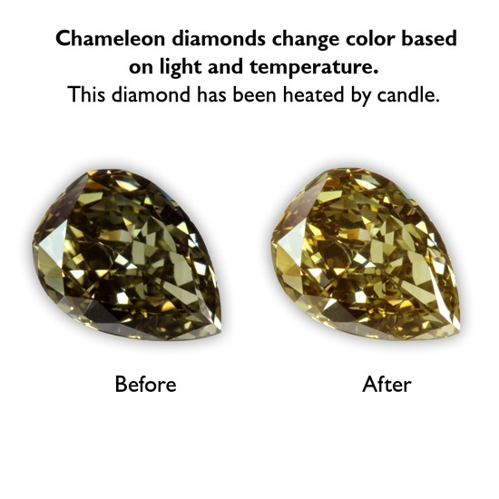 0.49 Carat VS1 Pear Shape Fancy Dark Chameleon Diamond