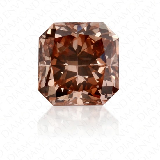 0.55 Carat Radiant Cut Natural Fancy Brown-Pink Diamond