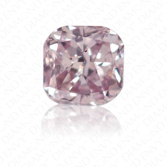 0.33 Carat Cushion Cut Natural Fancy Greyish Pink Purple Diamond