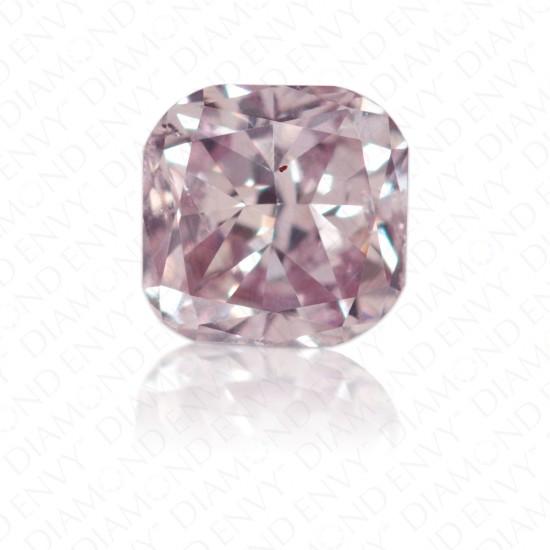 0.33 Carat Cushion Cut Natural Fancy Greyish Pink Purple Diamond