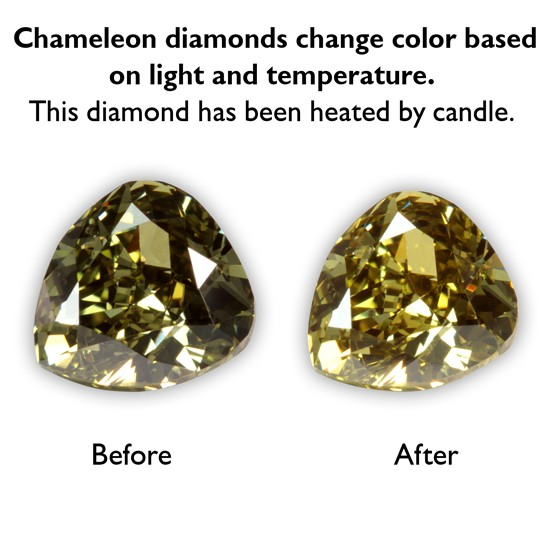 0.43 Carat Pear Shape Fancy Dark Chameleon Diamond