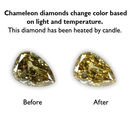 0.33 Carat Pear Shape Fancy Deep Chameleon Diamond
