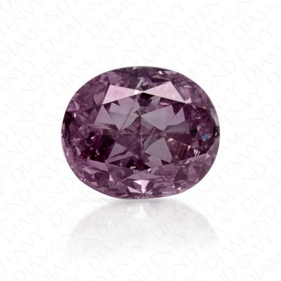 0.28 Carat Oval Fancy Pink Purple Diamond