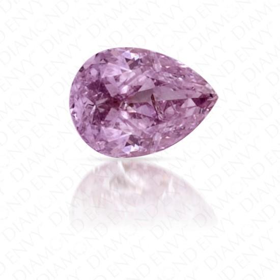 0.17 Carat Pear Shape Fancy Pinkish Purple Diamond