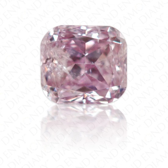 0.24 Carat Cushion Fancy Pink Purple Diamond