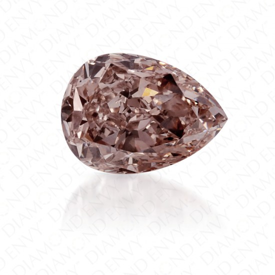 0.83 Carat Pear Shape Natural Fancy Pink-Brown Diamond