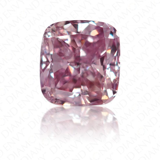 0.28 Carat Cushion Fancy Brownish Purplish Pink Diamond