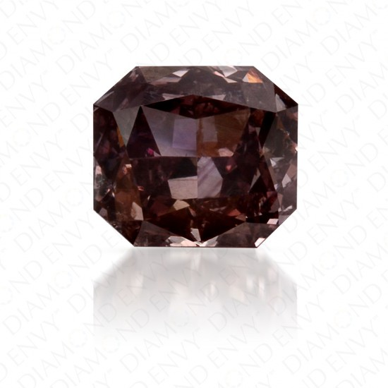 0.46 Carat Radiant Cut Natural Fancy Dark Brown-Pink Diamond