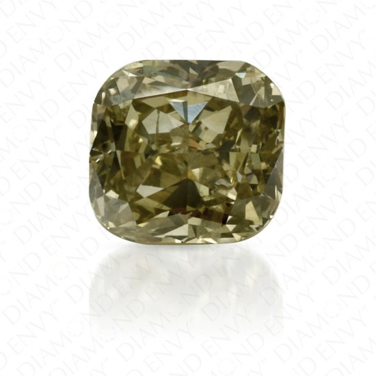 0.50 Carat Cushion Fancy Deep Chameleon Diamond