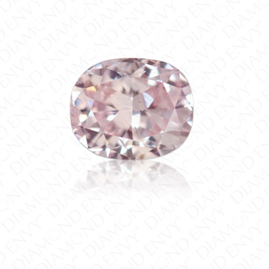 0.60 Carat Cushion Cut Fancy Light Pink Diamond
