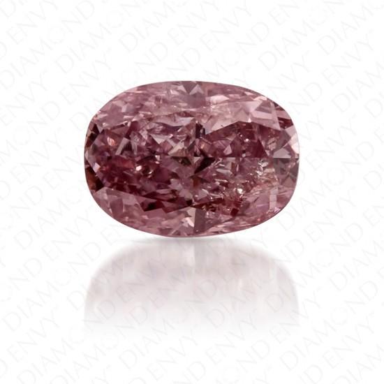 0.36 Carat Oval Fancy Brownish Purplish Pink Diamond