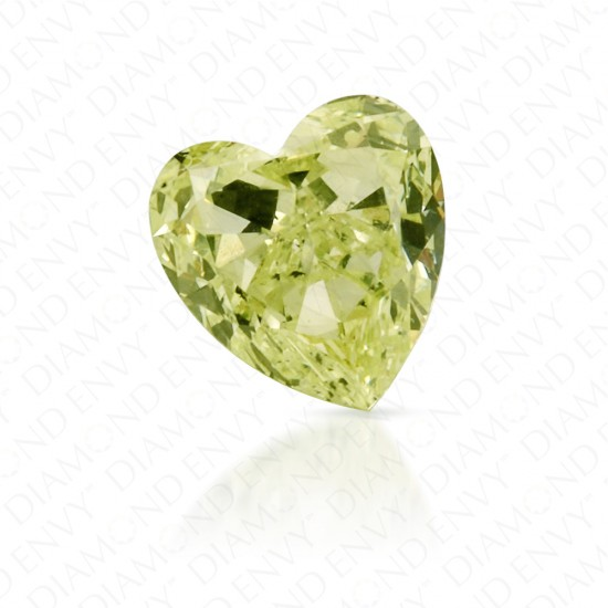 0.34 Carat Heart Shape Natural Fancy Yellow-Green Diamond