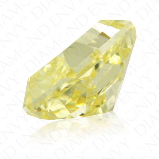 6.02 Carat Radiant Cut Natural Fancy Yellow Diamond