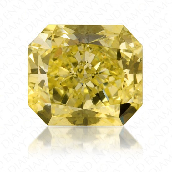 1.07 Carat Radiant Cut Natural Fancy Yellow Diamond
