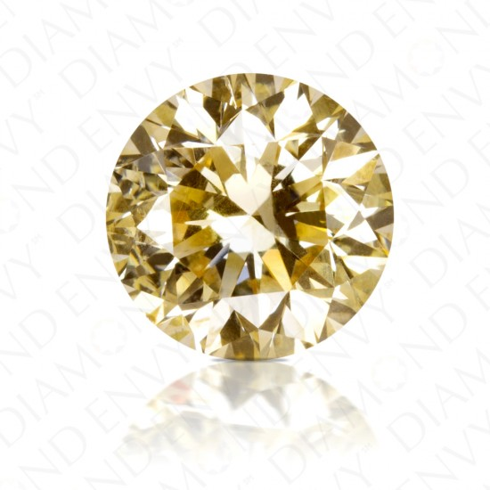 1.45 Carat Round Brilliant Natural Fancy Brownish Yellow Diamond