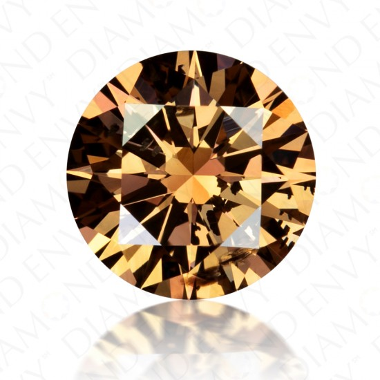 1.37 Carat Round Brilliant Fancy Dark Orangy Brown Diamond