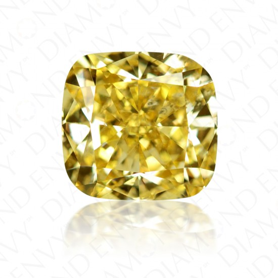 2.03 Carat Cushion Cut Natural Fancy Deep Brownish Yellow Diamond