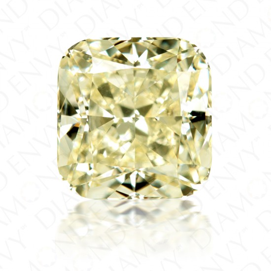 6.15 Carat Cushion Cut Yellow Diamond