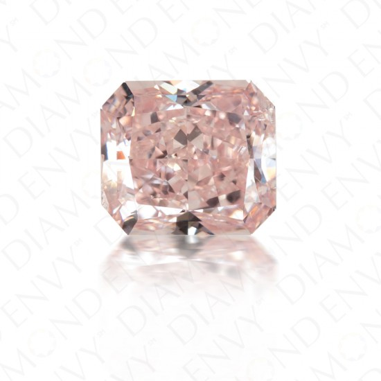 0.92 Carat Radiant Cut Natural Fancy Pink Diamond