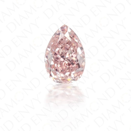 0.26 Carat Pear Shape Natural Fancy Orangy Pink Diamond