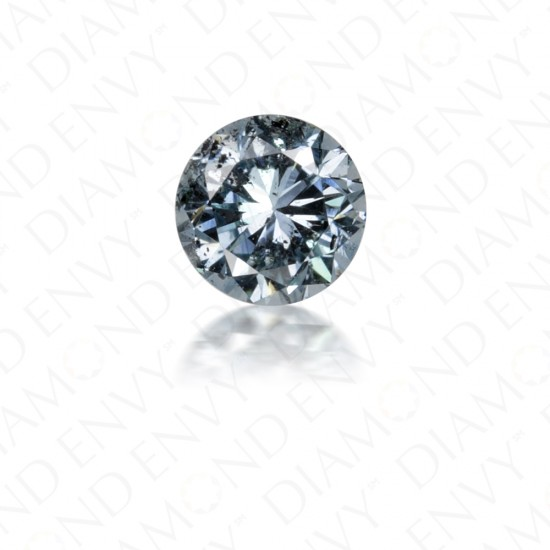 0.15 Carat Round Brilliant Natural Fancy Greenish Blue Diamond