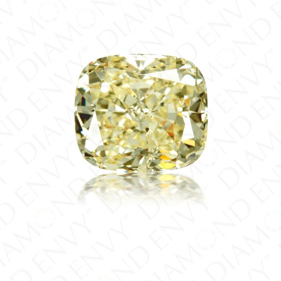 2.19 Carat Cushion Cut Natural Fancy Yellow Diamond