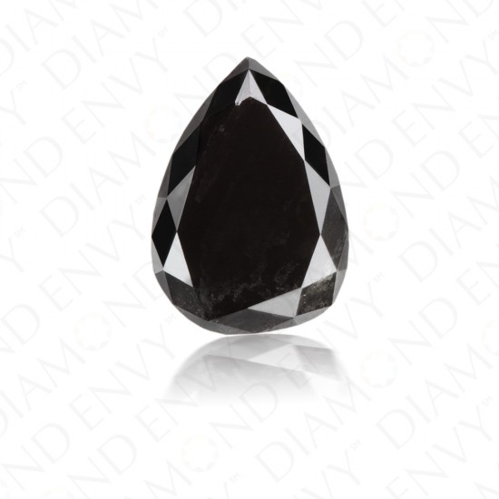 1.15 Carat Pear Shape Natural Fancy Black Diamond