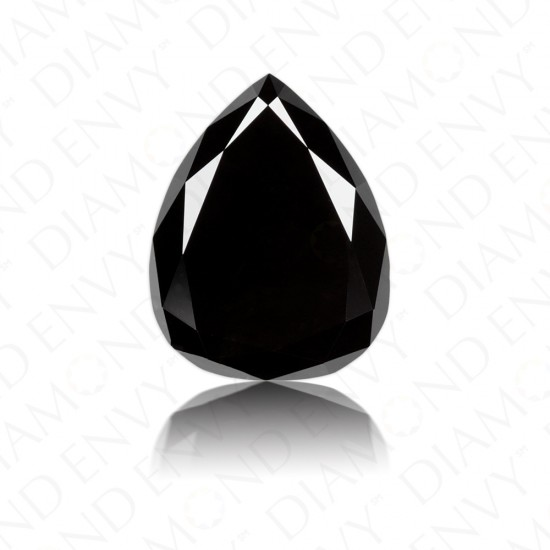 1.29 Carat Pear Shape Natural Fancy Black Diamond