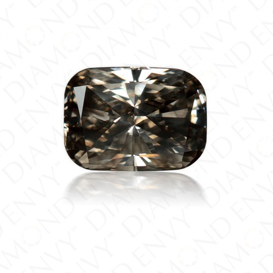 1.03 Carat Cushion Cut Natural Fancy Dark Grey Diamond