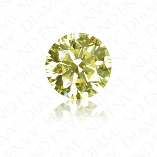1.39 Carat Round Brilliant Natural Fancy Yellow Diamond