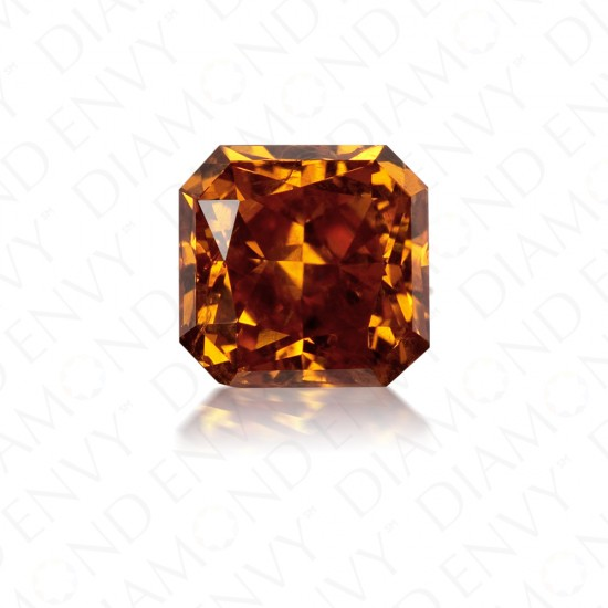 1.19 Carat Radiant Cut Natural Fancy Deep Yellowish Orange Diamond