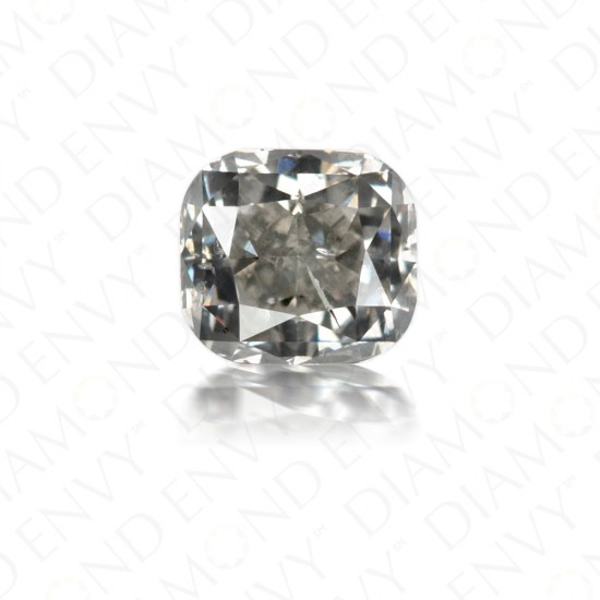 0.73 Carat Cushion Cut Natural Fancy Grey Diamond