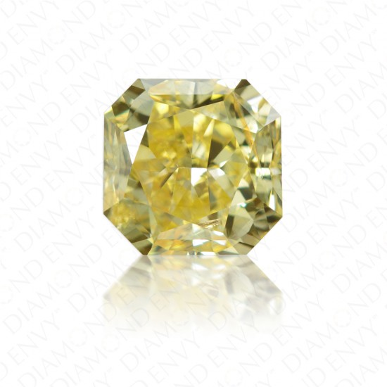 1.42 Carat Radiant Cut Natural Fancy Deep Yellow Diamond