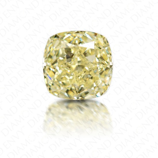 2.01 Carat Cushion Cut Y to Z Range Yellow Diamond