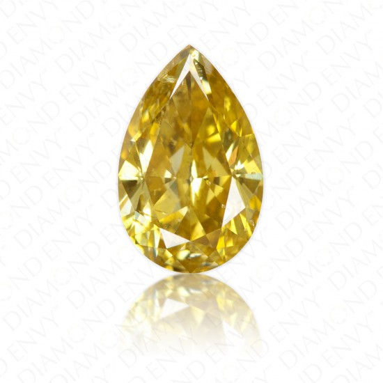 1.24 Carat Pear Shape Natural Fancy Deep Brownish Yellow Diamond