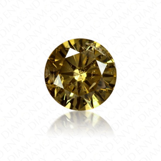 2.00 Carat Round Brilliant Natural Fancy Yellow-Brown Diamond