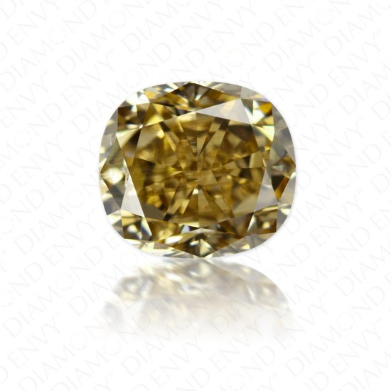 1.01 Carat VS1 Cushion Cut Natural Fancy Yellow-Brown Diamond