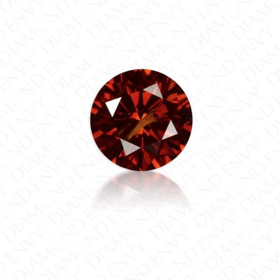 0.30 Carat Round Natural Fancy Dark Orangy Brown Diamond