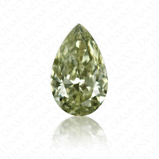 0.53 Carat Pear Shape Natural Fancy Chameleon Diamond