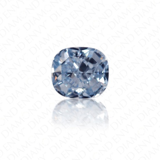 1.07 Carat Cushion Cut Natural Fancy Intense Blue Diamond
