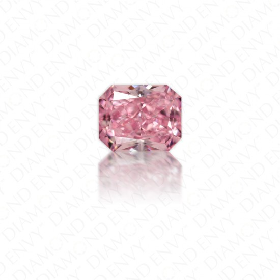 0.25 Carat Radiant Cut Natural Fancy Intense Purplish Pink Diamond