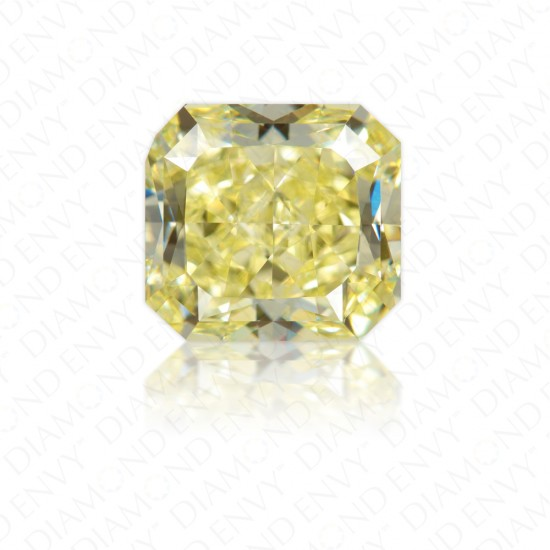 3.03 Carat Radiant Cut Natural Fancy Yellow Diamond